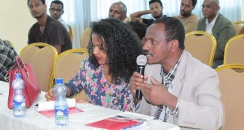 Procuring entity representative at the validation event