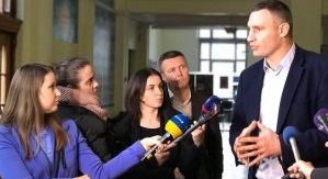 Kyiv City Mayor interviewed by press