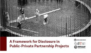 World Bank PPP Framework